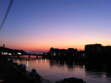 DIEGO BY THE RIVER-blog-1027_1_夕日