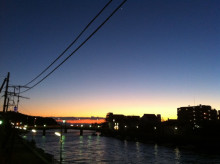 DIEGO BY THE RIVER-blog-江ノ島夕日_0202