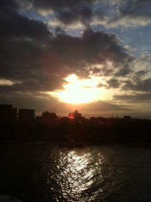 DIEGO BY THE RIVER-blog-夕日